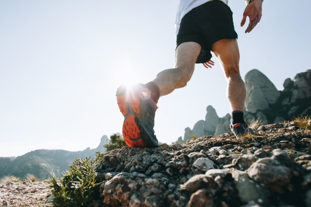Trail Running. 6pack-shape.